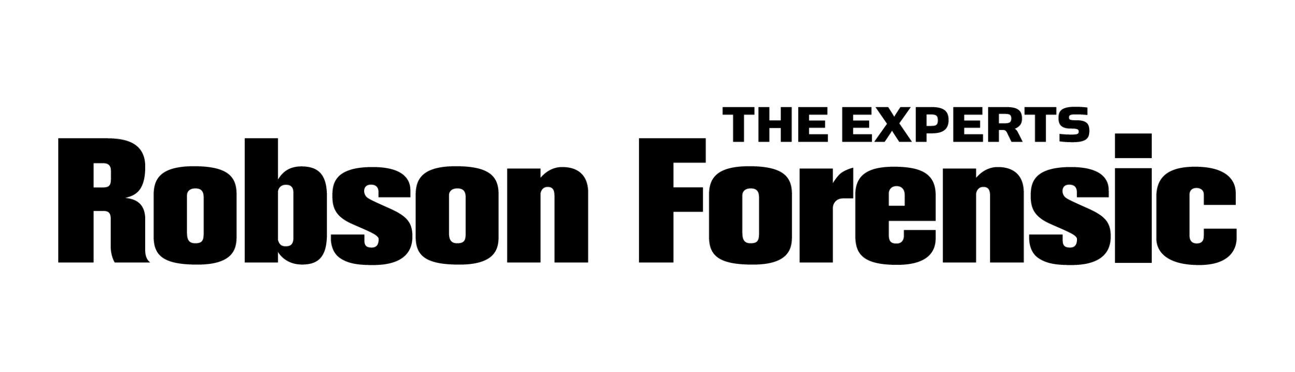RobsonForensic NEW logo black