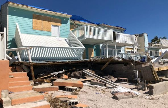 Damaged Houses After Hurricane Michael