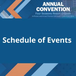 Schedule of Eventslogo
