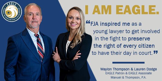 Waylon Thompson and Lauren Dodge Waylon Quote with logo EAGLE 650 Header